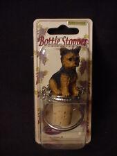 YORKIE Dog CORK WINE LIQUOR BOTTLE STOPPER Puppy HAND PAINTED Resin FIGURINE