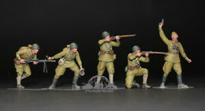 (Pre-Order) Soviet Red Army Infantry WWII (05 figures) 1:35 Pro Built Model