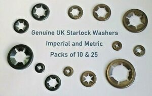 Starlock Washers Push Lock On Shaft Star nut Grab Fastener Clips Metric Imperial