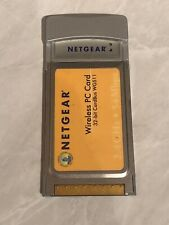 Netgear WG511 PCMCIA 54Mbps WiFi Wireless PC Card