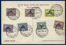 """1939 - """"Sede Vacante"""" serie completa su cartolina - non viaggiata"""