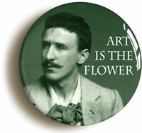 CHARLES RENNIE MACKINTOSH ART FLOWER BADGE BUTTON PIN (Size 1inch/25mm diameter)