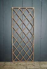Victorian 19th Century Diamond Pattern Cast Iron Window