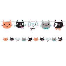 Purr-fect Pretty Kitty Cat Kitten Party Supplies Shaped Ribbon Banner 1.7m x14cm