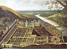 Vecchia cartolina Arte-Jacques Fouquières-Heidelberg-Hortus Palatinus prima del 1620