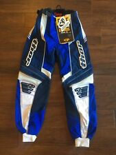 THOR YOUTH PHASE RACE TROUSERS BLUE WHITE MOTOCROSS MX KIDS BMX BOYS W22