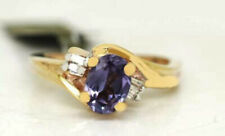 ALEXANDRITE 0.98 Cts & GENUINE DIAMONDS RING 10K GOLD***  Made In USA ***