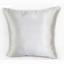 Hot sale 6 Colors Faux Silk Plain Sofa Pillow Case Cushion Cover Square Pop UK