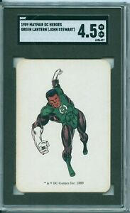1989 Mayfair DC Heroes  - GREEN LANTERN (John Stewart)  *Rare Rookie*  SGC 4.5