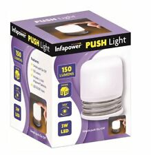 Infapower Battery Powered LED Touch Push Light Table Lamp Night Light