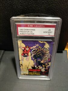 1992 PREDATOR VS. MAGNUS ROBOT FIGHTER PROMO CARD EMC GRADED 10