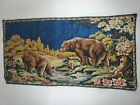 Vintage Bear Tapestry Made in Italy Boho Chic Decorative Wall Hanging Rug