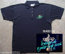 Golf Irlande Ryder Cup 2006 Noir Polo Shirt medium NEUF