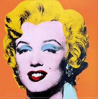 Andy WARHOL Marilyn Monroe Orange Poster Print 26 x 26