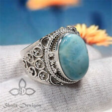 Men Women Super Beautiful Blue Moonstone Wedding Engagement Party Ring Size 6-10