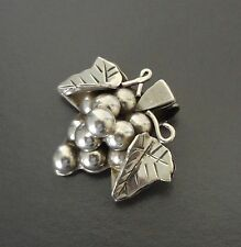 Vine Pin Pendant - 14.3 Grams Taxco Mexico Polished Sterling 925 Grape Cluster