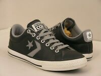 CONVERS CONS Unisex Total Genuine Black 100% Leather Pre-Loved Logo size UK4 37