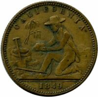 1849 California Gold Miner Liberty Head Counter Gold Rush Resembles $5 Gold