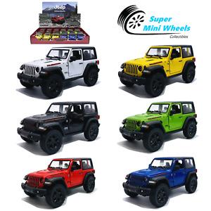 "Kinsmart 1:36 - 2018 Jeep Wrangler (Hard Top) - 5"" Diecast Toy Car - 8 Colors"