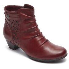 ROCKPORT - COBB HILL - ABILENE - Women's Ankle Boots - Bordeaux Leather -Size 10