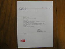 FRED  CROWELL  Signed 1975  Personal Letter  SAMFORD Men's Basketball Head Coach