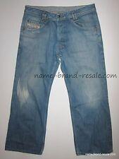 DIESEL Jeans YOKEES 881 Mens 34 x 28 Short BAGGY Light Faded Denim DISTRESSED