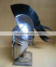greek corinthian helmet with crest reenactment armour spartan helmets