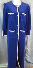 VTG 70's NWOT Evelyn Pearson Lounge Robe Size Small Royal Blue
