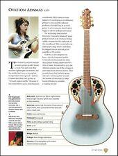 Kaki King Ovation Adamas + Wire Colin Newman Breadwinner guitar article w/ specs
