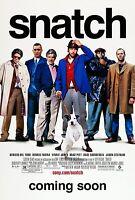 Snatch movie poster 11 x 17 inches - Jason Statham poster, Brad Pitt poster