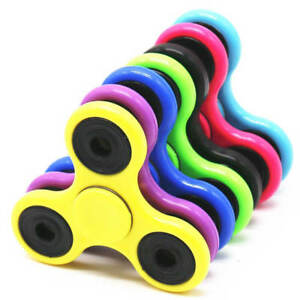New Fidget Spinner Stress Relieve Funny Face Glow Night Multi View Multi Colours