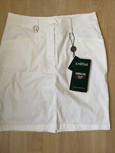 NWT Chervo Ladies Jayne Golf Skort 63026 100 White Sz 4 NEW