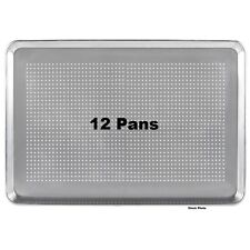 "12-Pack Pans 18"" x 26"" Perforated Full Size 19 Gauge Wire in Rim Aluminum Pans"