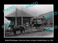 OLD LARGE HISTORIC PHOTO OF BOTHWELL WASHINGTON, THE RAILROAD DEPOT STATION 1905