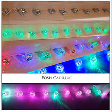 10 Mosaic Mirror Disco Balls Led Colours Lights 2.10m String Battery Operated