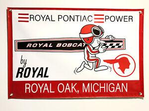 Royal Pontiac Power 24''x36'' Garage Shop Banner GTO Firebird Trans Am Catalina