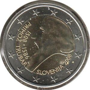 SV20008.1 - SLOVENIE - 2 euros commémo. Primož Trubar - 2008