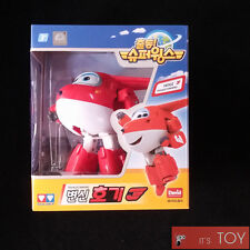 Super Wings HOGI JETT Transforming Jet Air-plane Robot Toy figure 13cm Auldey