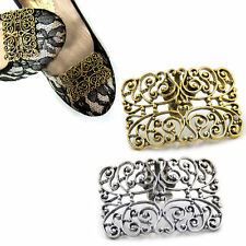 Vintage Carved Hollow Shoe Clip Buckle High-heel Decor Removable Wedding Gift 1X