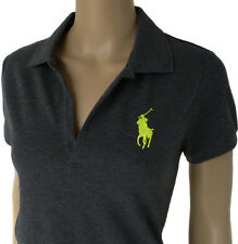 RALPH LAUREN Volley Polo-Hemd Gr.M, Big Polo Pony, GREY