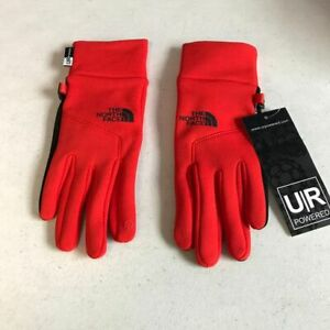 New The North Face UNISEX Etip Glove U/R Powered Red Small
