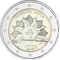 Lettland 2 Euro 2019 Aufgehende Sonne bankfrisch