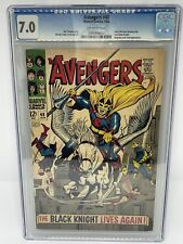 The Avengers 48 CGC 7.0 FIRST APPEARANCE THE BLACK KNIGHT -  ETERNALS MOVIE SOON