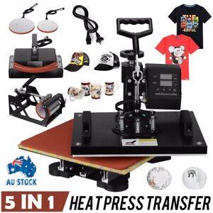 5IN 1 SWING Heat Press Machine Sublimation Transfer Cap Plate Mug T-shirt Print