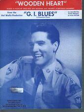 Wooden Heart 1960 G I Blues Elvis Presley Sheet Music