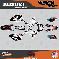 Suzuki RMZ450 Graphics Decal Kit 2008-2017 RMZ 450 VISION Series