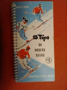 "13 Tips on Modern Skiing Vintage Pocket size book. Joan ""Zip""  Starzyk"