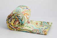 Indian Handmade Quilt Vintage Kantha Bedspread-Throw-Cotton Blanket Ralli!Gudari