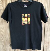 OBEY Men's Small Tshirt Black Short Sleeve Cotton Spell Out Repetition Works