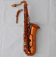 Professional Matte Coffee C Melody saxophone Newest Sax engraving Bell with case